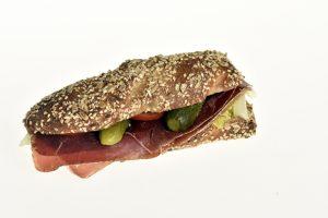Sandwich mit Bündnerfleisch